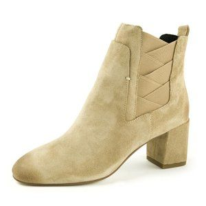 REBECCA MINKOFF Lo Suede Ankle Boots booties block